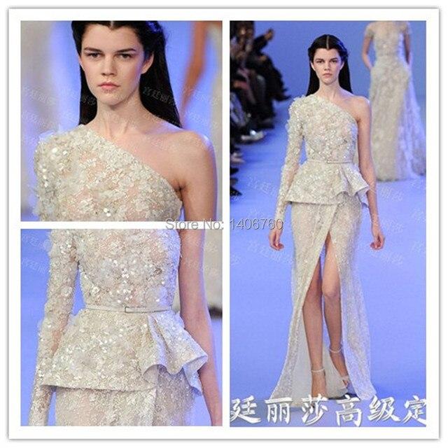 Exquisite Fashionable One Shoulder A Line Evening Dresses Diaphanous ...