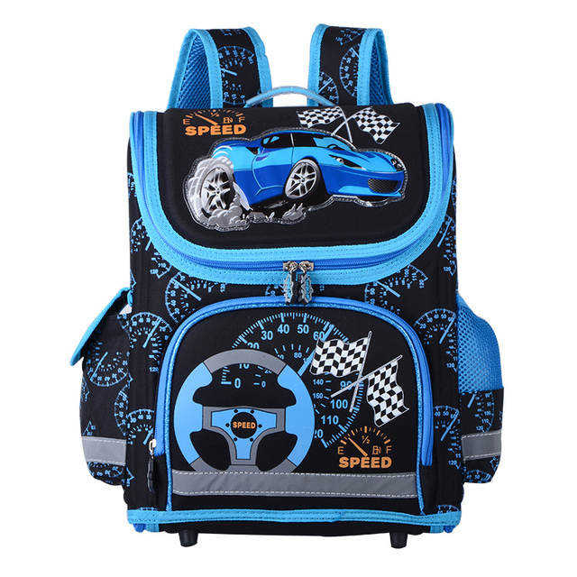 b2d0d69b11f3 New 2016 Boys School Bags Backpacks Child Orthopedic Waterproof Backpack  Boy Car Book bag Kids Satchel