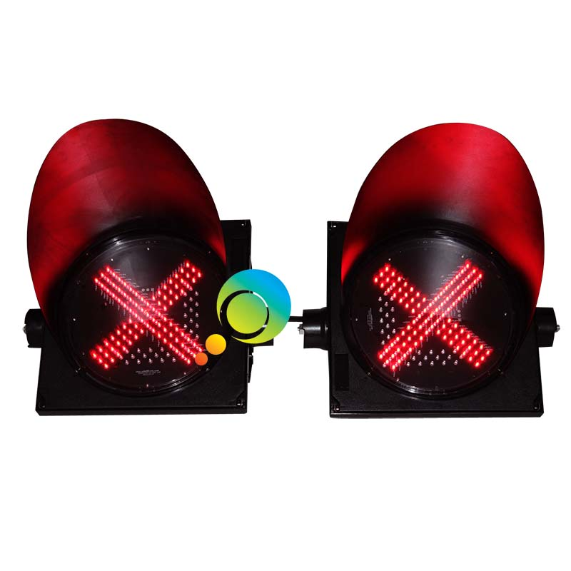 300MM toll station guidance traffic signal lights LED green arrow red cross light - 2