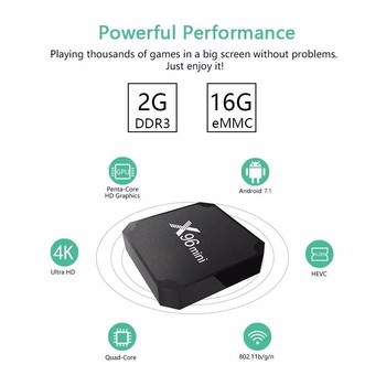 X96 mini tv box WiFi android 7 1 2GB 16GB Amlogic 1GB 8GB S905W tvbox