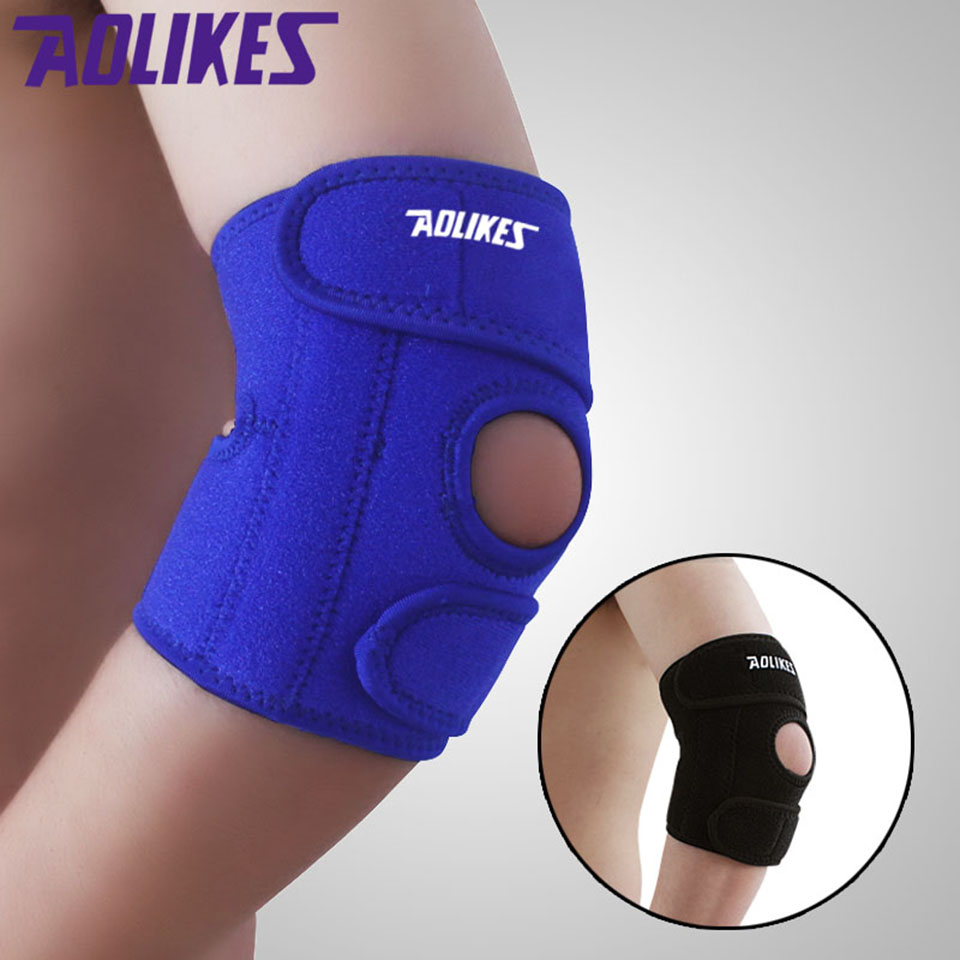 AOLIKES 1 Pair Adjustable Elbow Pads Spring Sports Safety Protector codera ciclismo Brace Support for Basketball Gym