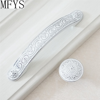 3.75'' 5'' Dresser /Drawer Pulls Knobs Handles Cabinet Knob White Silver Kitchen Cupboard Handle Pull Knob Bathroom Handles 3 75 5 amber white win cabinet dresser door handles glass crystal gold drawer cupboard knob pull european fashion handle 128mm
