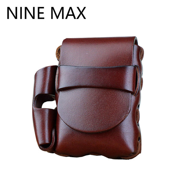 High Quality Luxury PU Leather Waist Bag Cigarette & Phone Bag Durable Vintage Casual Sling Belt Bags Gift for Father