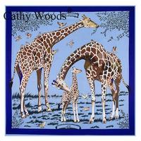 100 Silk Scarves Fashion Style Printed Scarf 130cm 130cm Silk Twill Square Scarves Luxury Scarf For