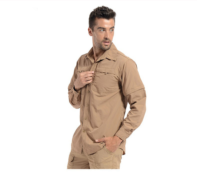 c2dc7d06b325 Men Lightweight Urban Tactical Shirt Quick Dry Army Cargo Military Shirt  Summer Male Casual Clothes Breathable Long Sleeve Shirt