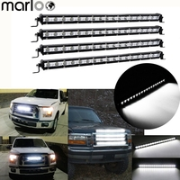 Marloo 4pcs 54W Slim 20 inch Car Roof Bumper Spot Flood Combo Led light Bar Truck Light Offroad Autos Driving 4x4 4WD 12V lamp
