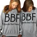 Bts 2016 Mujeres Camiseta Morena Rubia Mejor Amigo BFF de Los Mejores Amigos Novias Harajuku Impresión Sudadera Mujeres Suéteres