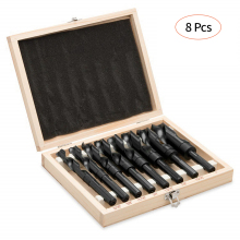 цена на 8pcs/set Professional HSS Twist Drill Set High Speed Steel Twist Drill Bits Tool Set with Wooden Storage Case