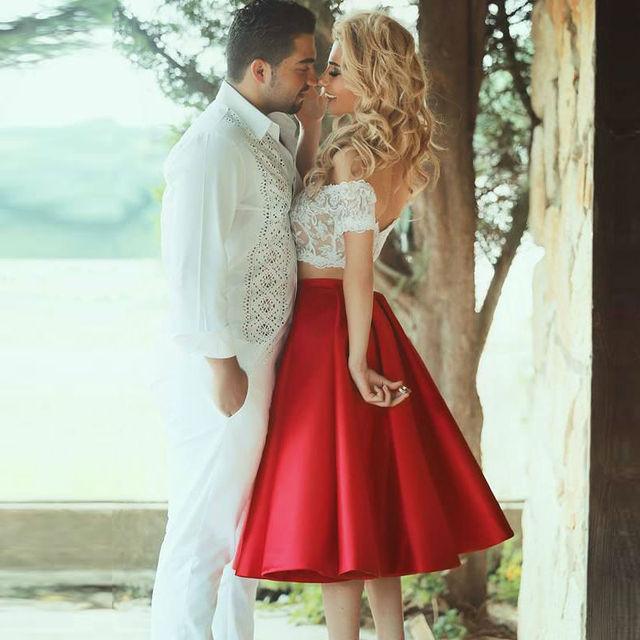 Robe De Vestidos de Cóctel 2016 Vestido de Fiesta Corto de Cóctel 2 Unidades Vestido De Festa Curto octavo Grado Vestidos de Baile Fuera Del Hombro