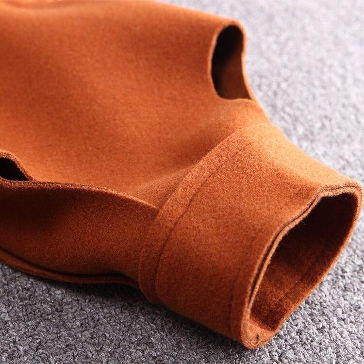 Hiver Casual Collar Taille Arrivée Turn Mode Nouvelle Unique Et Longues La L Plein Mélanges Laine Manches Solide down Slim 3x Plus Black Poitrine 2018 orange xzwpOqRp