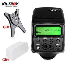 Viltrox JY610II Мини Универсальный ЖК-дисплей Вспышка Speedlite свет + Диффузор + подставка для Canon, Nikon, Pentax Sony a7m2 a7r2 a7s2 A7