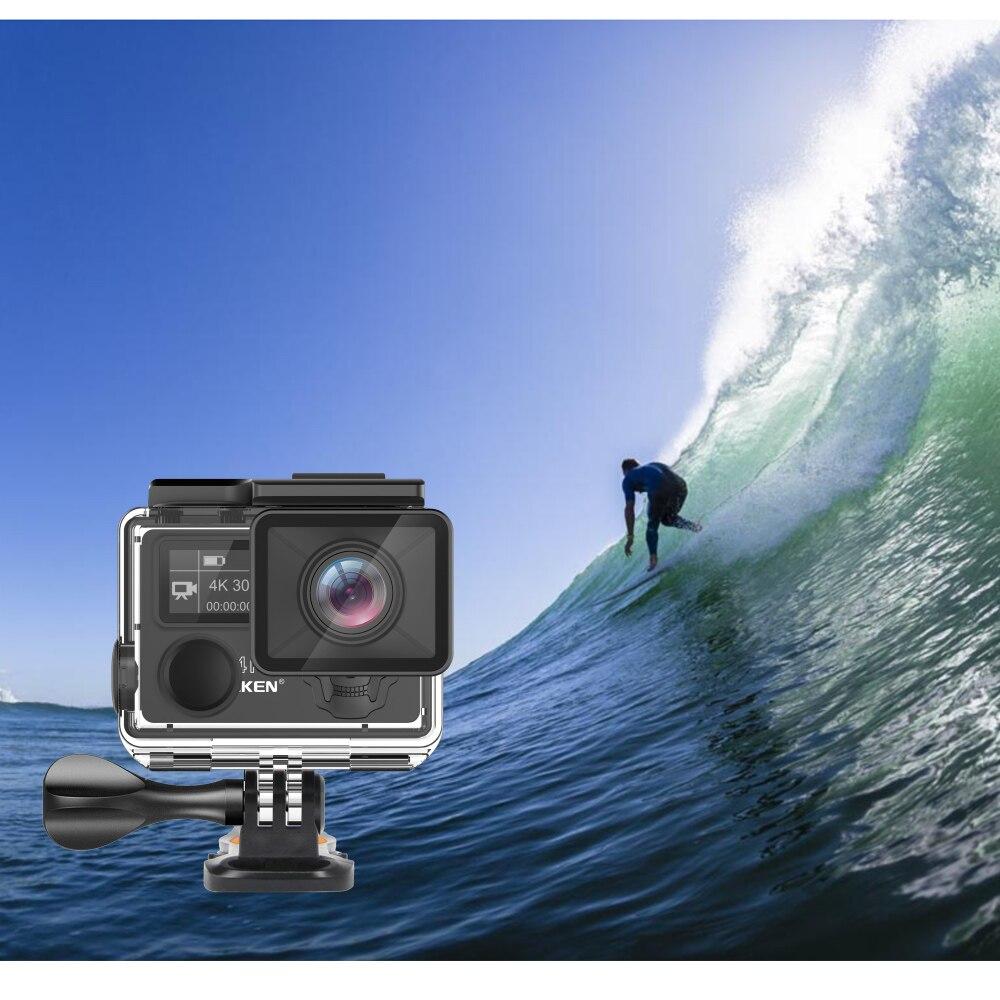 EKEN H5s Plus 4 k + Écran Tactile Caméra Ambarella A12 Chipset 4 k Stabilisation D'image WiFi Sony Capteur Capteur 2.0 pouce Écran Tactile - 3