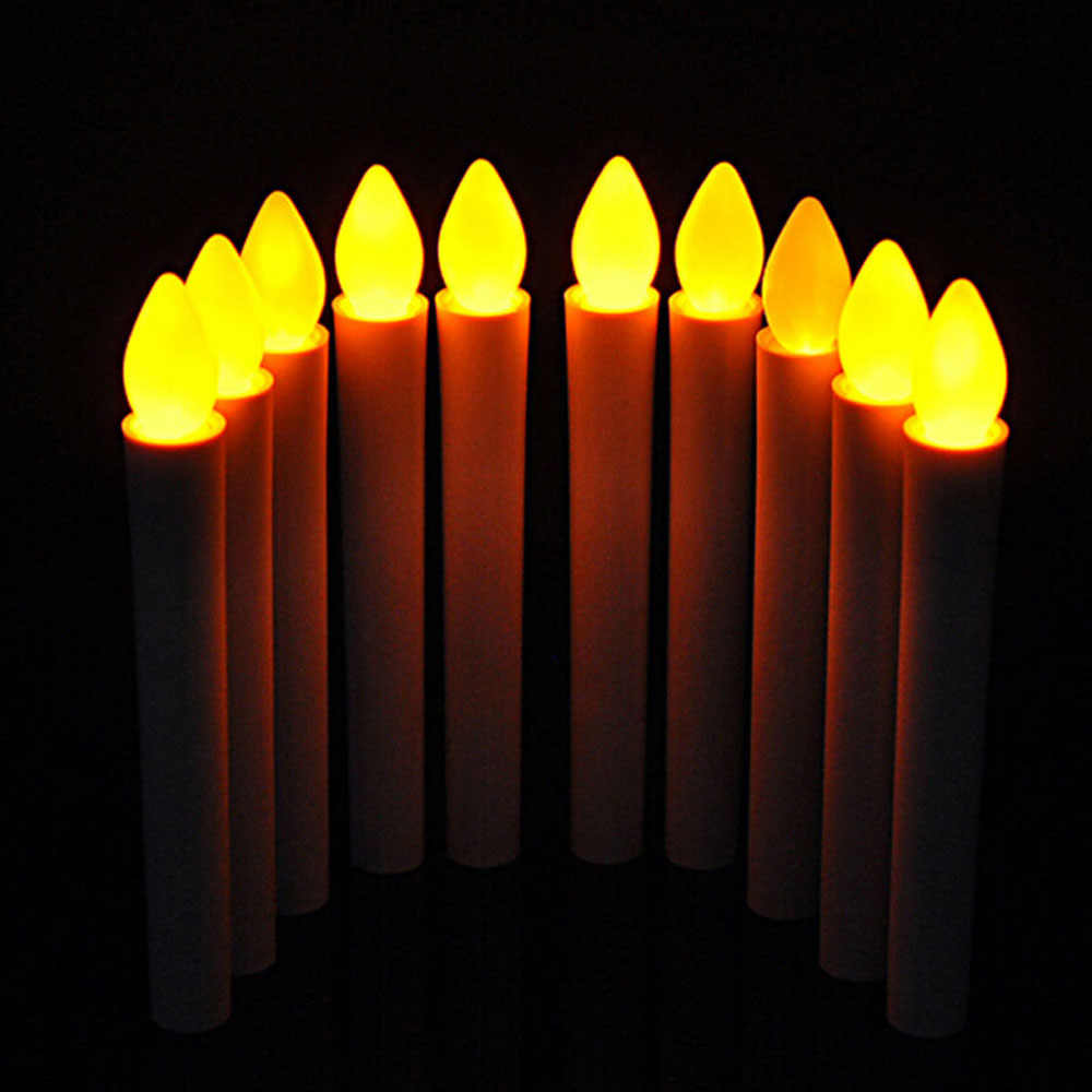 Flicker Battery Candles Plastic Electric Candles Flameless Lights For Christmas Halloween Wedding Party Decoration