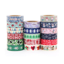Hot sale 1 roll 1.5*10meter Kawaii Scrapbooking Tools Masking Tape Christmas Photo Album Diy Decorative Tapes