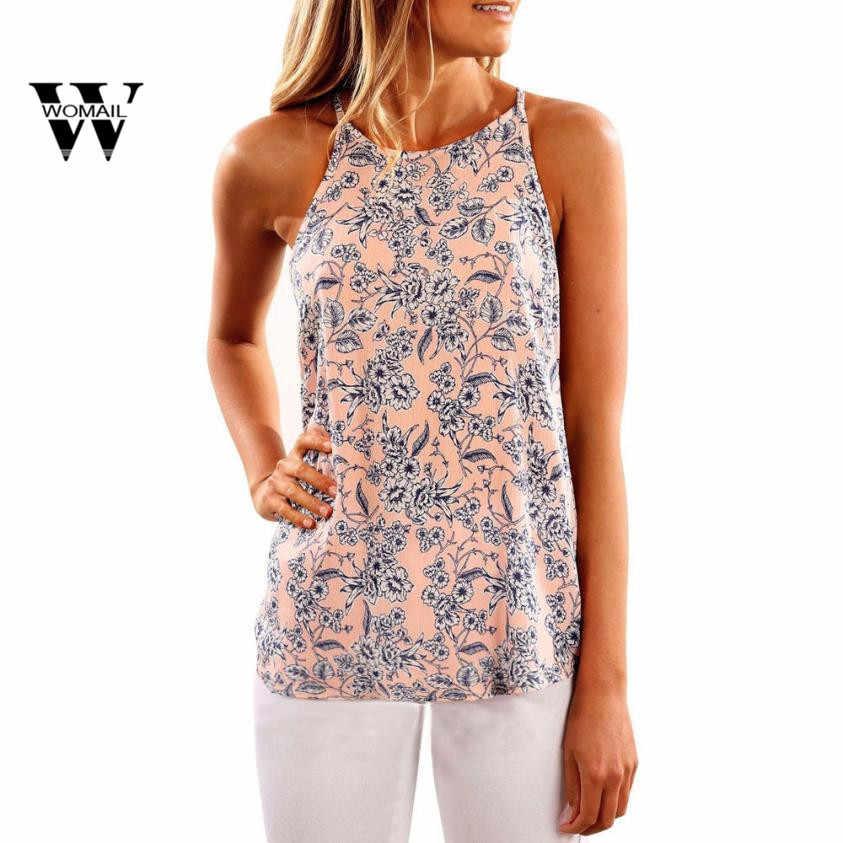 2018 新セクシーなピンクのノースリーブシャツとグレープリントブラウスファッション女性夏の花のベストカジュアルタンクトップス Tシャツ Mar 27