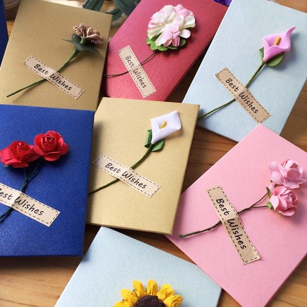 Online shop 2018 new cards handmade flowers birthday diy teachers 2018 new cards handmade flowers birthday diy teachers day colorful high end flower shop small cards wedding decoration thecheapjerseys Gallery