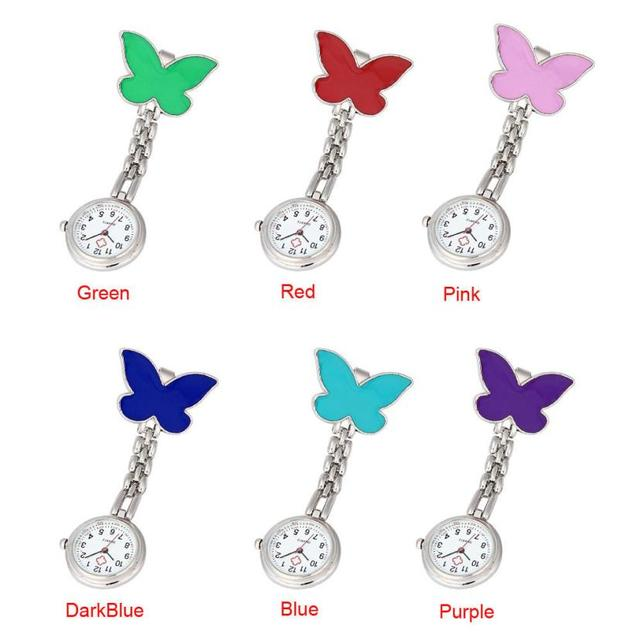 Nurse Clip-on Fob Brooch Pendant Hanging Clip-on Fob Brooch Pendant Hanging Butterfly Watch Pocket Watch New Colorful  Z20