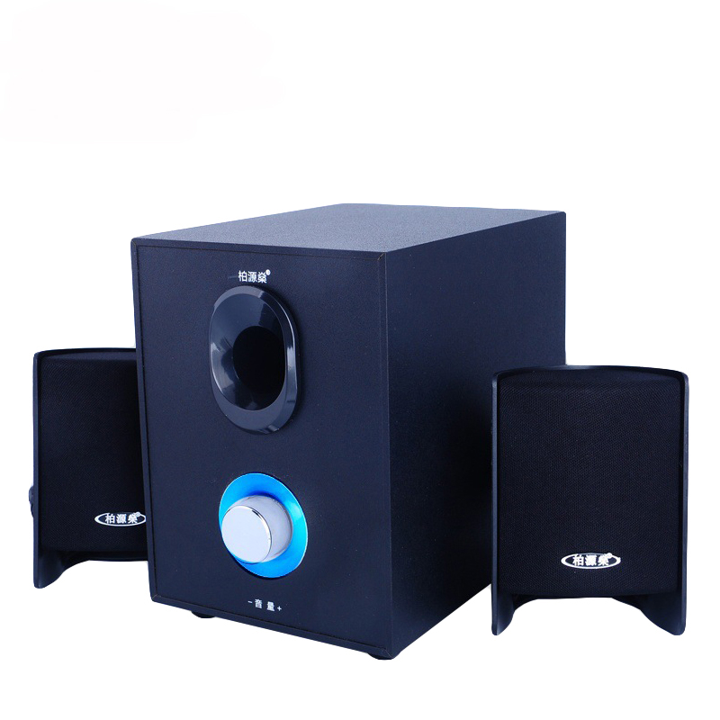 Subwoofer Bluetooth Speakers For Computer Pc Stereo Heavy Bass Desktop Pc AUX Loundspeaker For Laptop pc Coumpter portable 2 0 channel usb powered 3 5mm wired stereo desktop speakers set for pc laptop blue