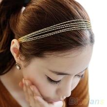Hot Women's Multilayer Alloy Tassel Chain Jewelry Hair Hoop Headpiece Hair Band  1KLJ