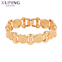 Xuping Gold Color Plated Jewelry for Ladies European Environmental Copper Classic Bracelet Gifts S93,4-76004(China)