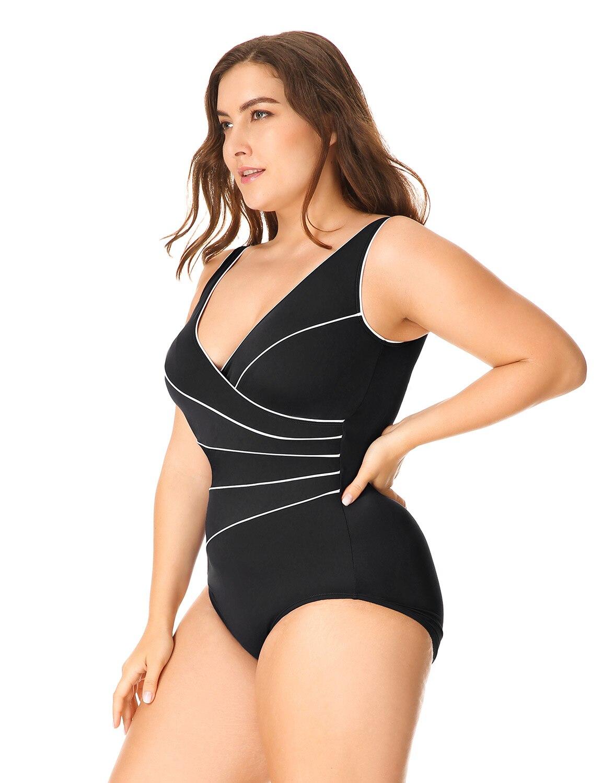 Delimira Для женщин для похудения Одна деталь окантовкой плюс Размеры купальный костюм ...