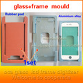 Para iphone7 7 plus 6 5S marco whit vidrio almohadilla de prensa Alineación de goma morir reparación lcd cubierta de cristal Unido a la pantalla
