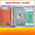 Para iphone7 7 plus 6 5S quadro whit vidro imprensa pad Alinhamento de borracha morrer reparação lcd tampa de vidro Anexado ao tela
