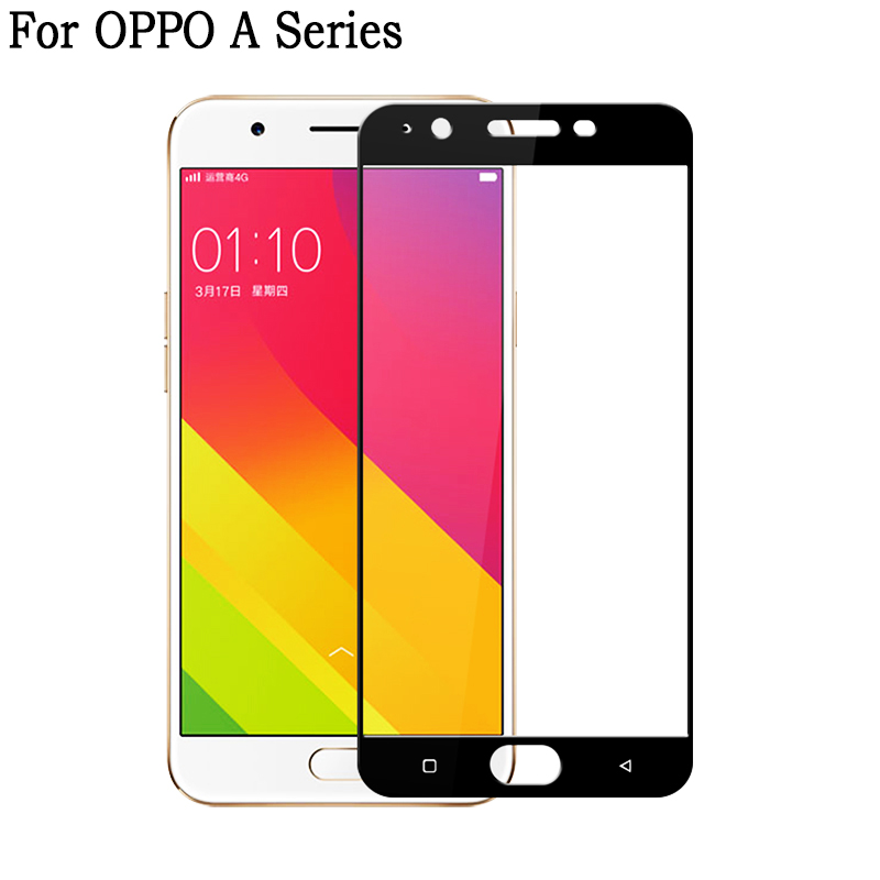 Tempered Glass On For OPPO A3S Protective Glass For OPPO A5S A5 A9 Full Cover Screen Protector For OPPO A 3S 5S Protective Film 3