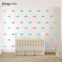 100pcs Set 2colors Clouds Pattern Wall Decal Nursery Wall Decals Girls Boys Bedroom Home Decor Wall