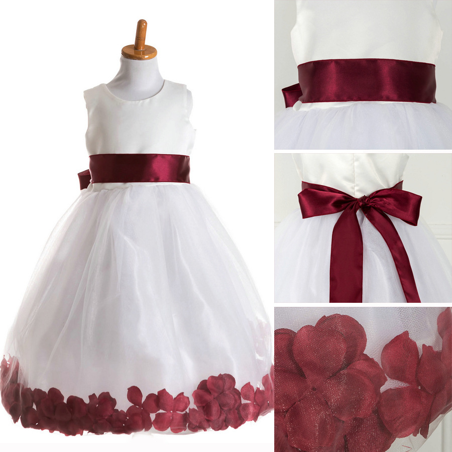 T062 Children Sleeveless Dress Gown Formal Party Wear Baby Fashion