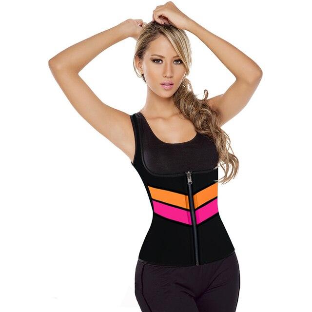 f90fec2c50 Plus S-5XL 2017 New Sexy Shaper Shirt Women neoprene shirt Slimming Body  Shaper Hot Redu Tops Chest Abdomen Waist Cincher Vest