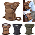 Men's Canvas Motorcycle Riding Belt Hip Bag Travel Thigh Leg Drop Tote Waist Pack