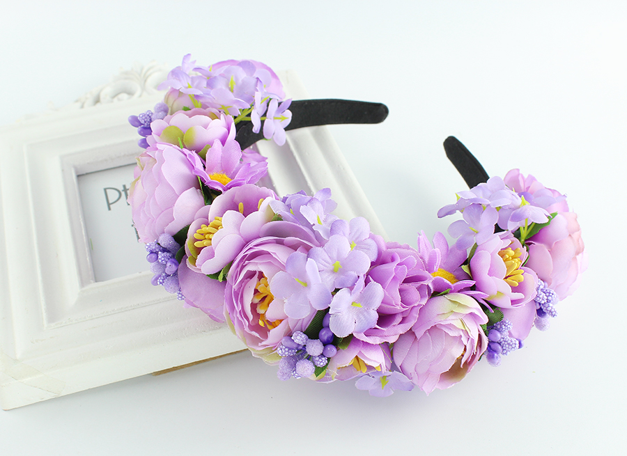 Headband Роуз Гарланд венгер үйлену тойы Bridal Hair Accessories Аксессуарлар нәпсіқұмарлар гүлдер тәжі Фестиваль декор ханшайым headpiece