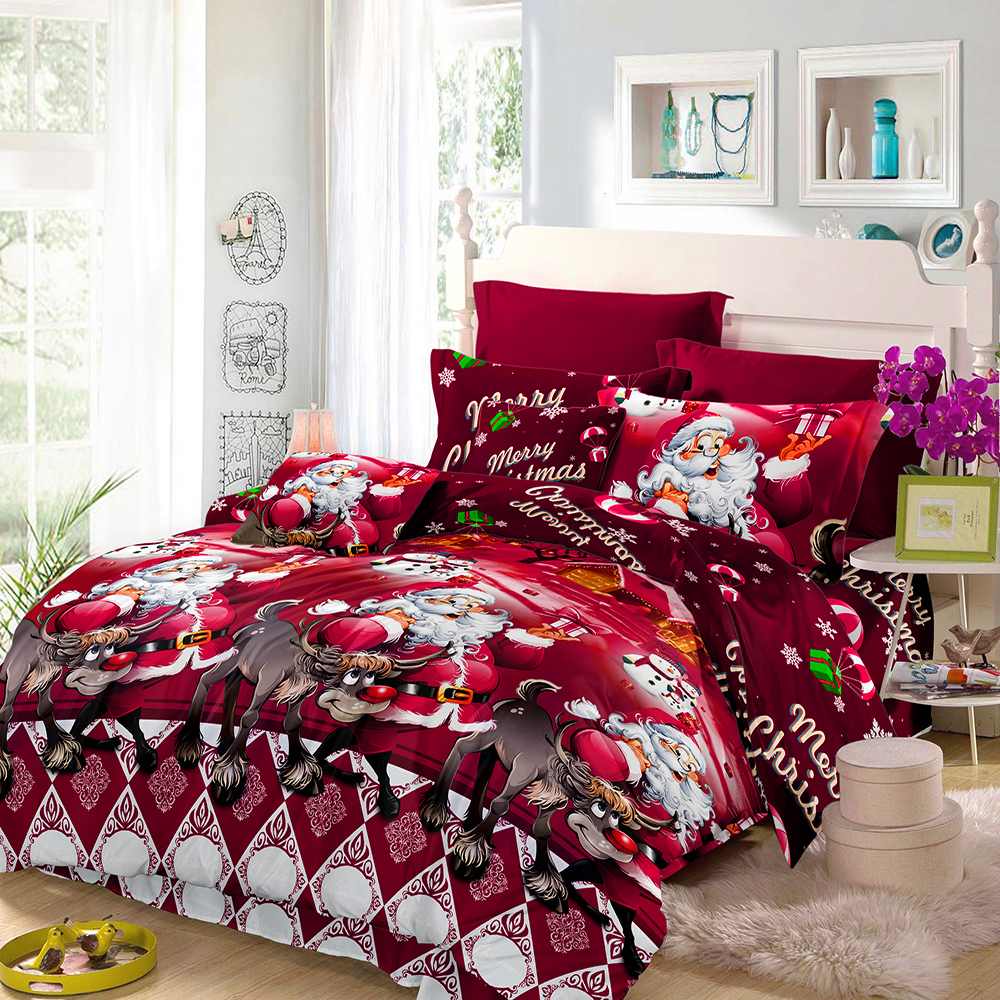 Christmas Bedding Sets Queen.Us 13 91 35 Off 3d Printed Merry Christmas Bedding Set Santa Claus Comforter Bedding Set Queen Twin King Size 2018 Christmas Decoration For Home In