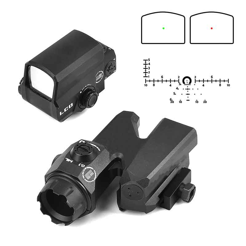Dual-Enhanced Optical Sight D-EVO Reticle Rifle Scope with LCO Red Dot Sight Reflex Sight Holographic Sight for Hunting