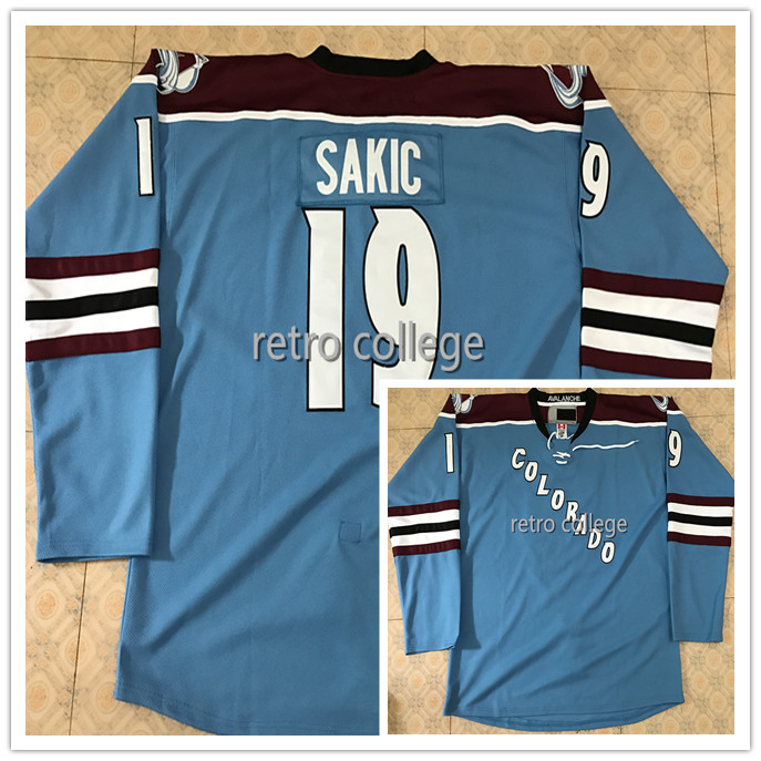 #19 Joe Sakic COLORADO AVALANCHE Hockey JERSEY Embroidery Stitched Customize any number and name Jerseys new arrived 2016 team uniform factory oem hockey jerseys embroidery mens tackle twill usa canada czech republic australia