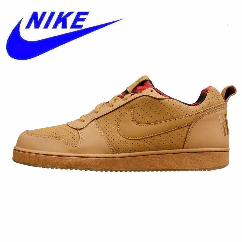 huge selection of d2178 1be35 Original Nike COURT BOROUGH LOW Men and Women Skateboarding Shoes , Yellow,  Warm Non-