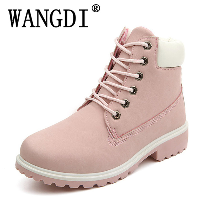 New 2018 Autumn Early Winter Shoes Women Flat Heel Boots Fashion Womens Boots Brand Woman Ankle Botas Hard Outsole