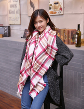 New Plaid Scarf Women Echarpe Homme Big Size Cashmere Shawls and Scarves Thick Basic Wrap Shawl Tartan Plaid Scarf