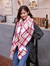 New Plaid Scarf Women Echarpe Homme Big Size Cashmere Shawls and Scarves Thick Basic Wrap Shawl