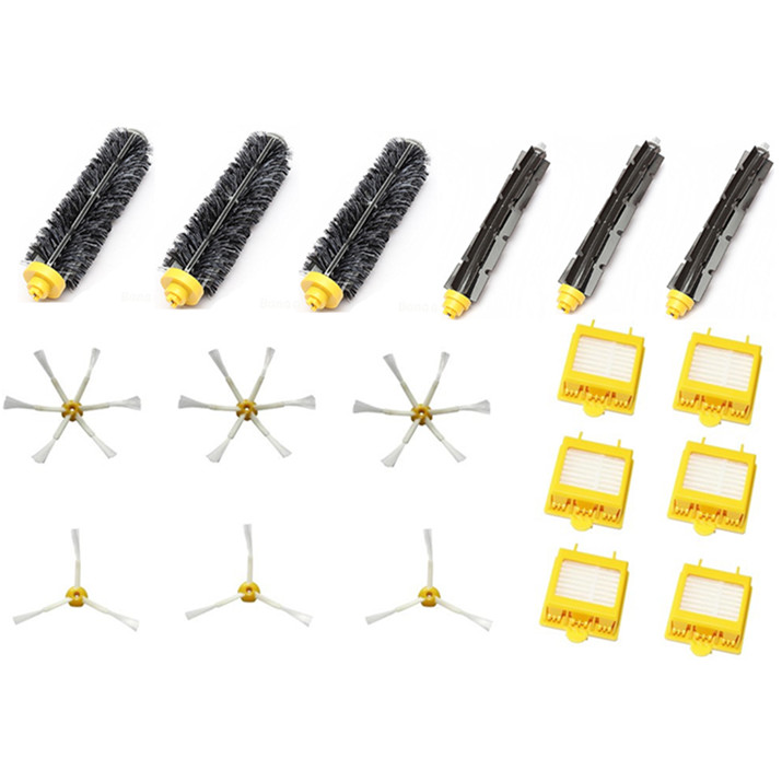 HEPA Filter+Side Brush Kit+Bristle and Flexible Beater Brush suitable for iRobot Roomba 700 Series 770 780 790 Cleaner Accessory 14pcs lot side brush bristle flexible beater brush hepa filter for irobot roomba 700 760 770 780 series vacuum cleaners parts