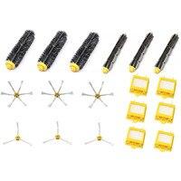 HEPA Filter Side Brush Kit Bristle And Flexible Beater Brush Suitable For IRobot Roomba 700 Series