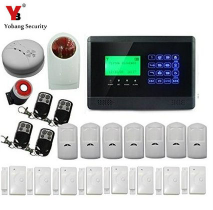 YobangSecurity Wireless Home Office Security Alarm System GSM Dialer PIR Motion Detector Door Window Sensor with Remote Control yobangsecurity touch keypad wireless gsm sms smart home security burglar alarm system smoke sensor voice pir motion door window