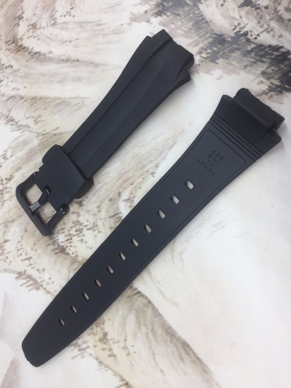 Original Watchband black silicone rubber bracelet for Casio AQ 160 AQ 163 font b watches b