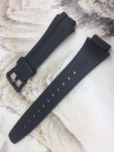 Original Watchband black silicone rubber bracelet for Casio AQ 160 AQ 163 watches accessories