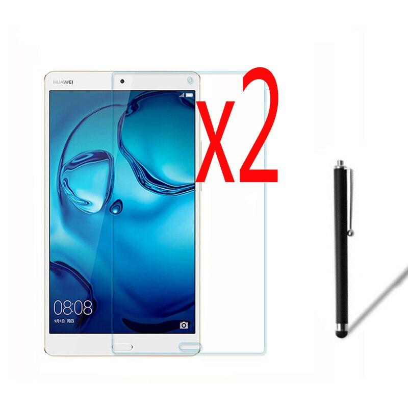 3in1 2x Clear LCD Screen Protector Films De Protection Film Gardes + 1x Stylet Pour Huawei Médias Pad MediaPad M3 8.4 BTV-W09 BTV-DL09