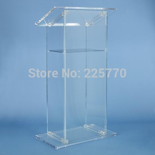 Hot Sale Clear Acrylic Church Pulpit/Lectern Podium/Church Lectern Free Shiping