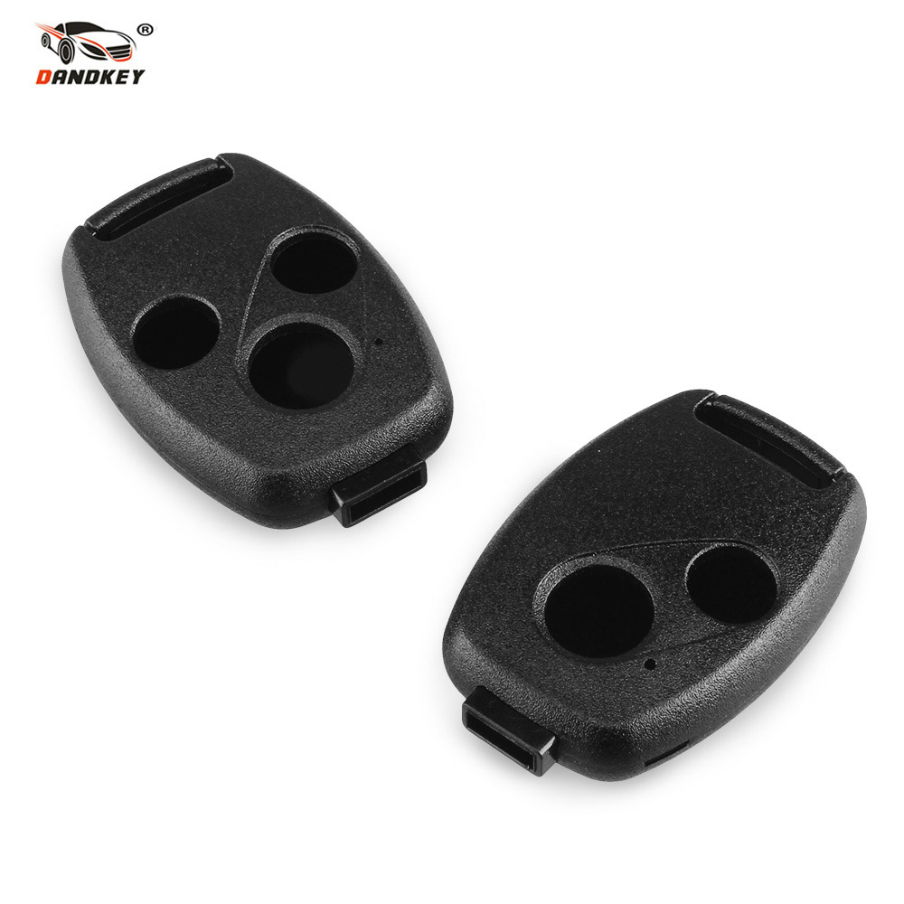 Dandkey 2/3 Buttons Fob Remote Key Case Shell For HONDA Accord Civic CRV Pilot 2007 2008 2009 2010 2011 2012 2013 Without Blade камера fish eye redpower hod018 для honda crv 2007 2011 jazz ii 2007 2013