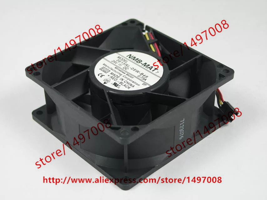 NMB 3615RL-05W-B49 EQ2 DC 24V 0.73A 3-wire 3-pin connector 90X90X38mm Server Square Cooling Fan genuine spare parts abb acs800 90 90 38mm 24v 0 32a 2 line waterproof fan pq1 3615 kl 05w b50