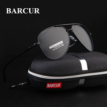 BARCUR Eyewear Accessories Men Sunglasses Male Hot Rays Aviation Male Sun Glasses Polarized Sunglasses for Men Glasses